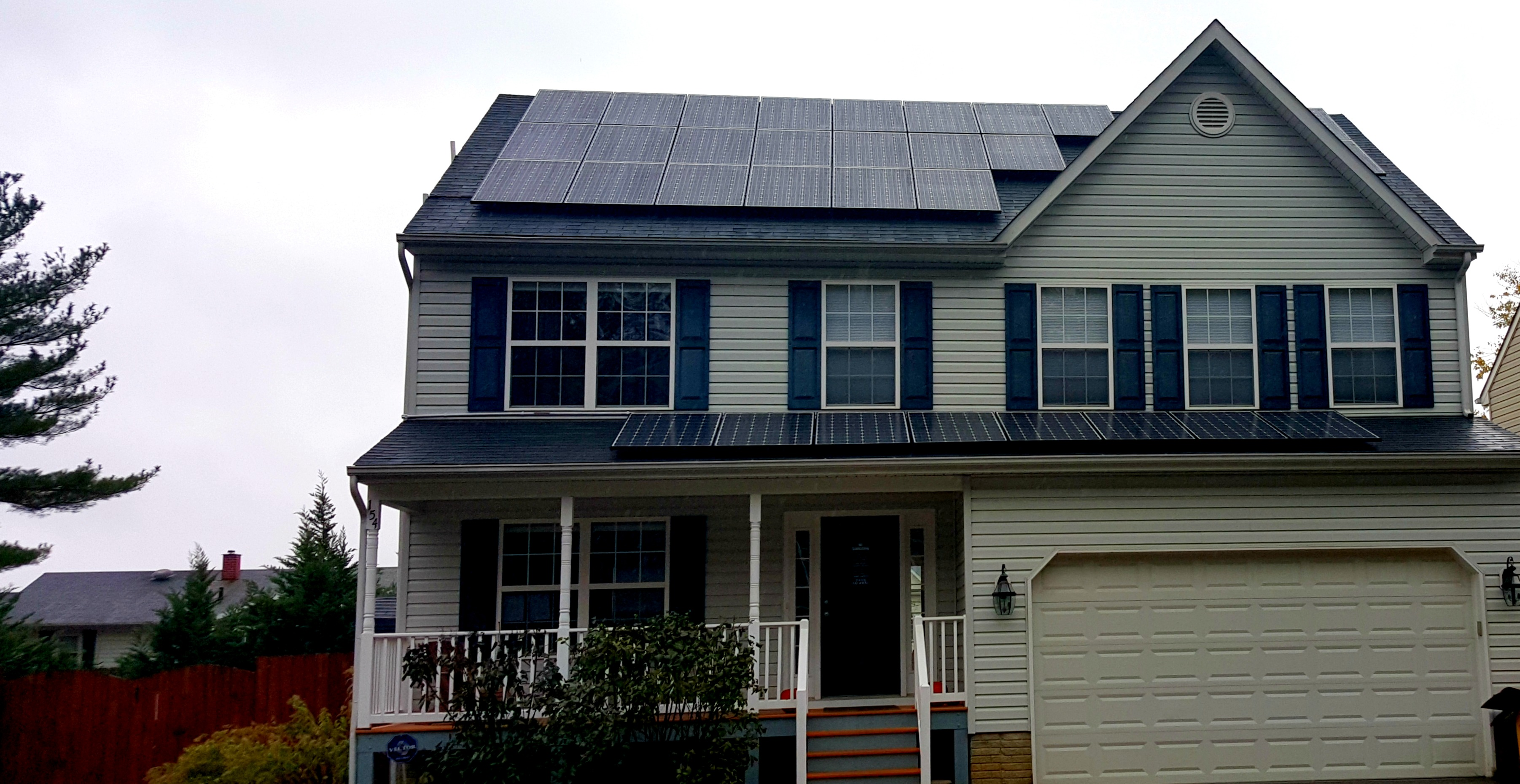Solar Panel Installation For A House In Severna Park Md