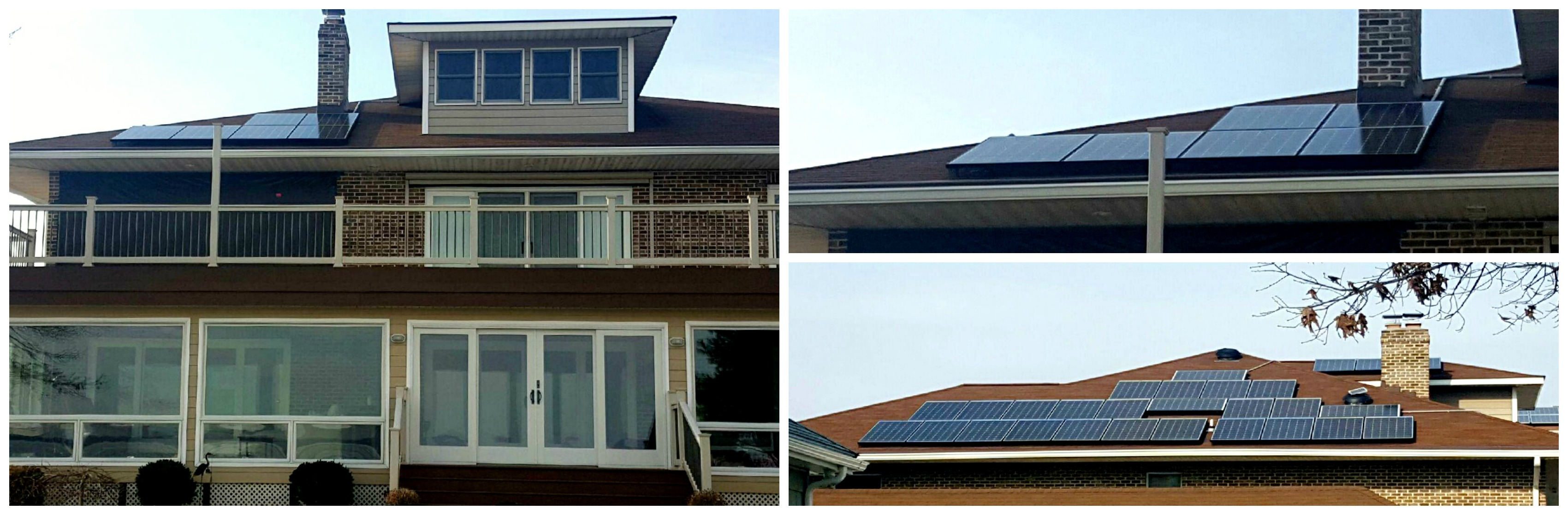 Residential Solar Panel Installation For A Home In Middle
