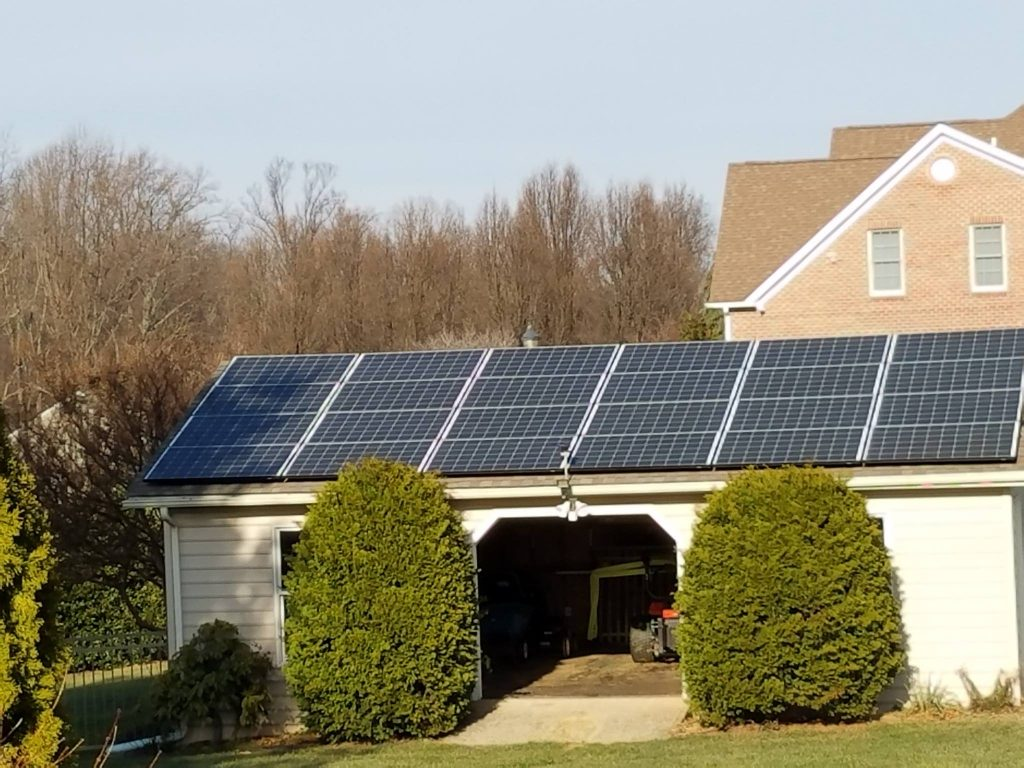 Residential Solar Panels Installed On Forest Hill Maryland Garage Home Electrical Wiring From A House Panel To Roof By Mssi